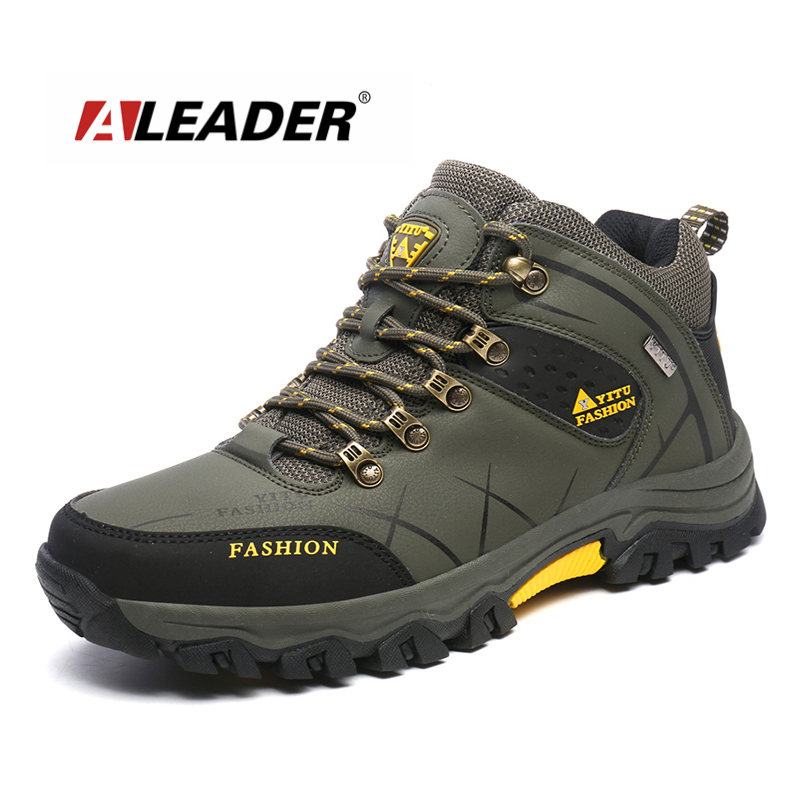 Aleader Plus Size 39-47 Winter Men Hiking Shoes Waterproof Mountain Climbing Shoes For Men Outdoor Sports Boots Trekking Shoes 2016 autumn winter hiking shoes men mountain climbing boots big size 11 12 13 outdoor shoes men military shoe waterproof sneaker