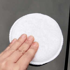 Image 5 - Esponja de pulido de microfibra suave para coche, de fácil lavado, encerado de algodón, almohadilla aplicadora blanca, detalle de coche, 3 uds.