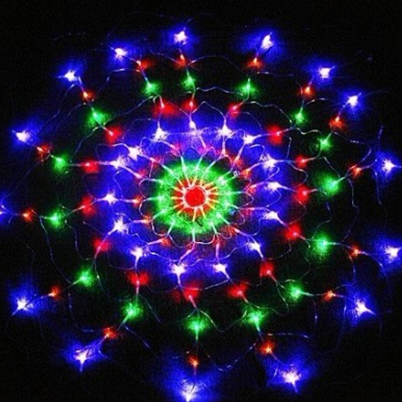 1.2m 120Led Festival Lights Colorful Spider Web Led Fairy String Lights Creative Net Party Layout Christmas Garland Decor CA28
