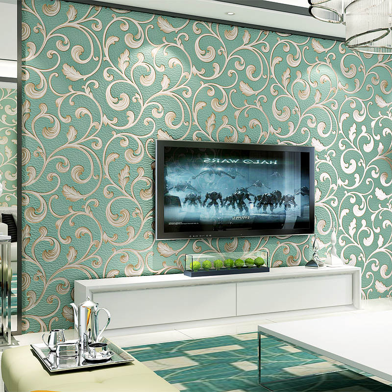 Luxury Damask Wallpaper Non-woven Breathable Wallpaper Roll For Walls Living Room TV Background Home Decor Papel De Parede 3D росмэн сказки о уайльд
