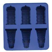 Free Shipping New Arrival Food Grade Doctor Who Dalek & Tardis Ice Tray Candy Jello Chocolate Mold Kitchen Tool