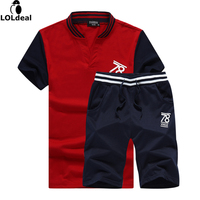 New Mens Fashion Suit Summer Style Short Sleeve T Shirt Shorts Causal Male Set Tracksuit