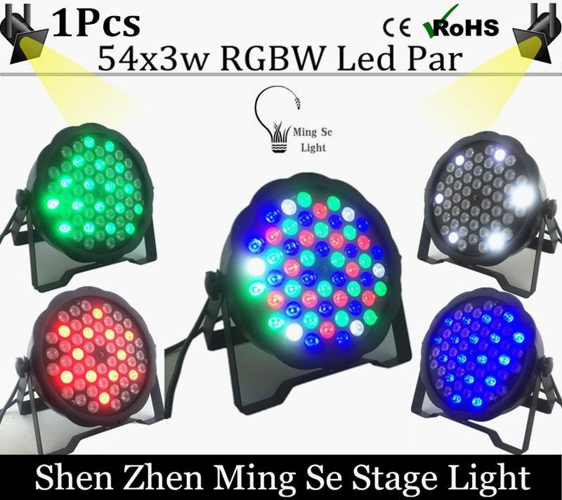 Free Shipping  54X3W RGBW LED Par Light LED PAR DMX512 controller led lights, disco lights DJ equipment