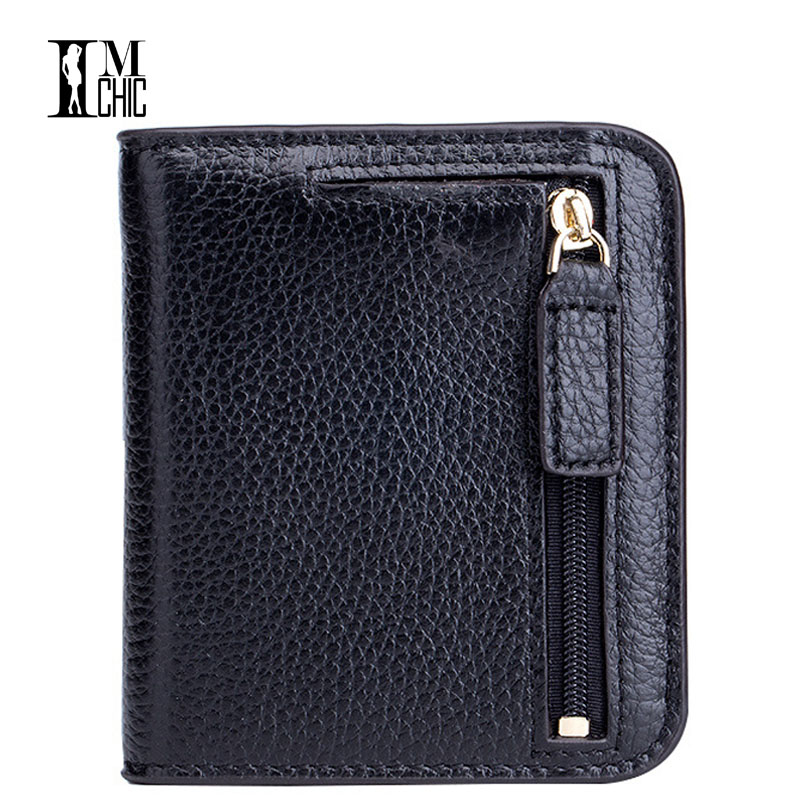 Designer Genuine Leather Mini Women's Purse Elegant Female Cards Holder Women Wallets 2018 Zipper Carteira Girls Gift Wallet