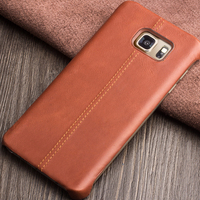 2015 QIALINO New Arrival Phone case for Samsung Galaxy Note5 Elegant Styles Caif Skin Genuine Leather Back Stitch Cover