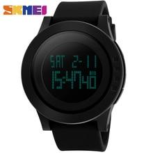 SKMEI 1142 Hombres LED Digital Relojes Deportivos de Marca de Moda Reloj de Silicona Resistente Al Agua Relojes Militares Relogio masculino Negro