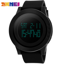 SKMEI 1142 Men LED Digital Wristwatches Fashion Brand Sport Watch Silicone Waterproof Military Watches Black Relogio Masculino