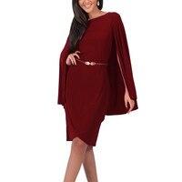 Women Cape Dress Slim Novelty Patchwork OL Formal Dress To Party Harri Potter Style Big Cloak