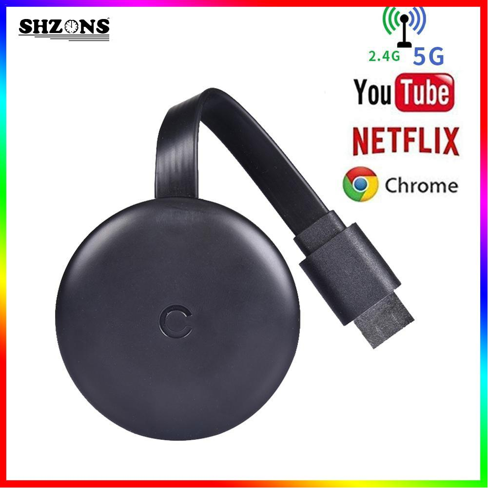5G Chromecast Mini TV Stick HDMI Android TV Receiver for Chrome Cast Mirroring Adapter for Youtube Miracast Airplay DLNA Dongle(China)