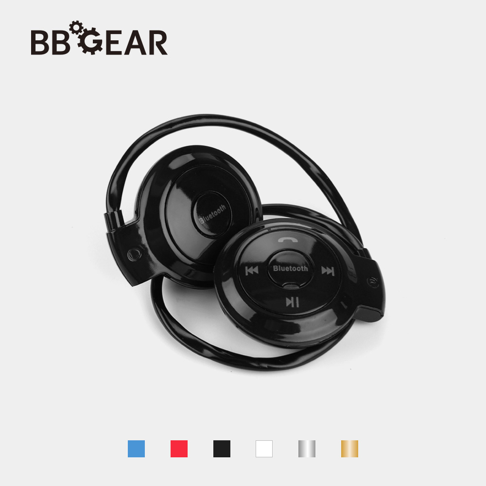 BBGear Mini Bluetooth Headphone w/ Handsfree MP3 Player Wireless Stereo Sports Headset Support TF/SD Card FM Headband Headphones d 400 bluetooth v3 0 stereo headband headphone w microphone fm black blue