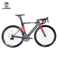 Java Suprema углерода 700C дорожный велосипед с 105 5800 переключения Aero прямой тормоза V алюминиевые колеса 22 скорость шоссейные велосипеды