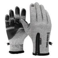 Зимние перчатки нескользящие перчатки мужские тачскрин утолщенные теплые варежки спортивные перчатки беговые велосипедные перчатки для м...