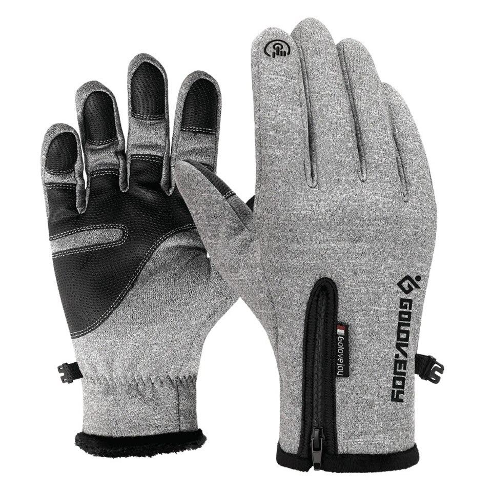 Gants d'hiver gants antidérapants hommes écran tactile épaissir garder au chaud mitaines gants de Sport course gants de vélo pour hommes femmes