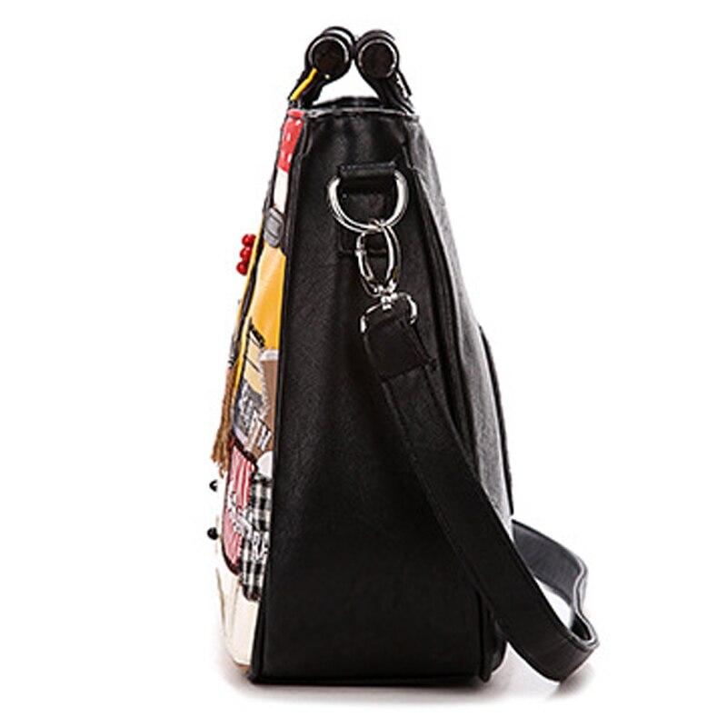 blanc Artisanat Marque Heureux À D'épaule Art Emballages Main Nouveau Noir Des Snowjenny Italie Borsa 2016 Ferme Femmes Messenger Sac XwtCUxq4f