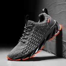 Summer New Tide Street Running Shoes For Men Breathable Flying weaving mesh Sneakers  Zapatillas Hombre Deportiva 2019 Hot sale