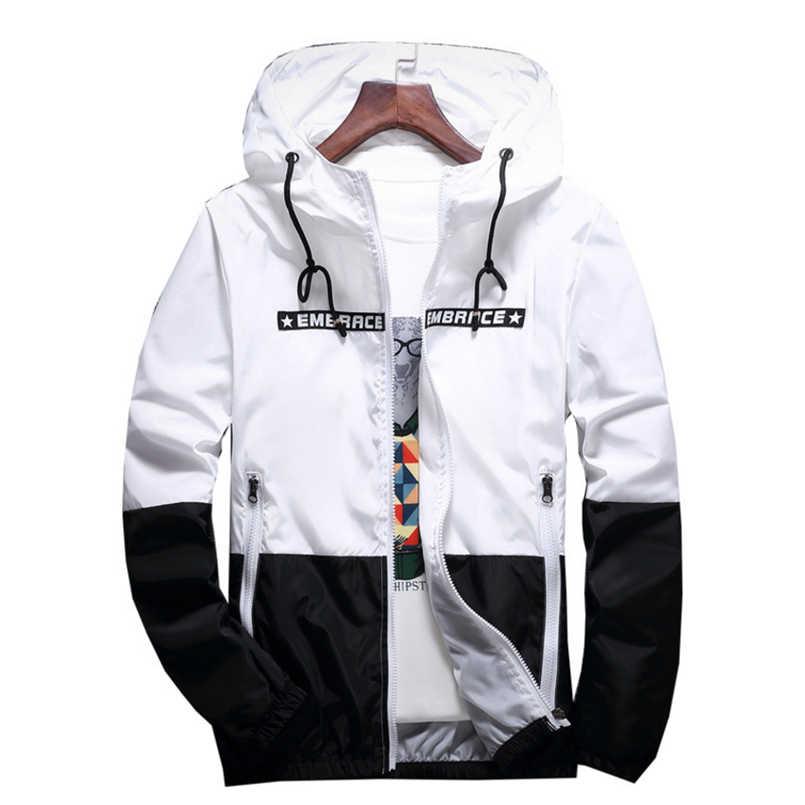 bf9016dba New anorak jacket windbreaker men jaqueta masculina zipper patchwork ...