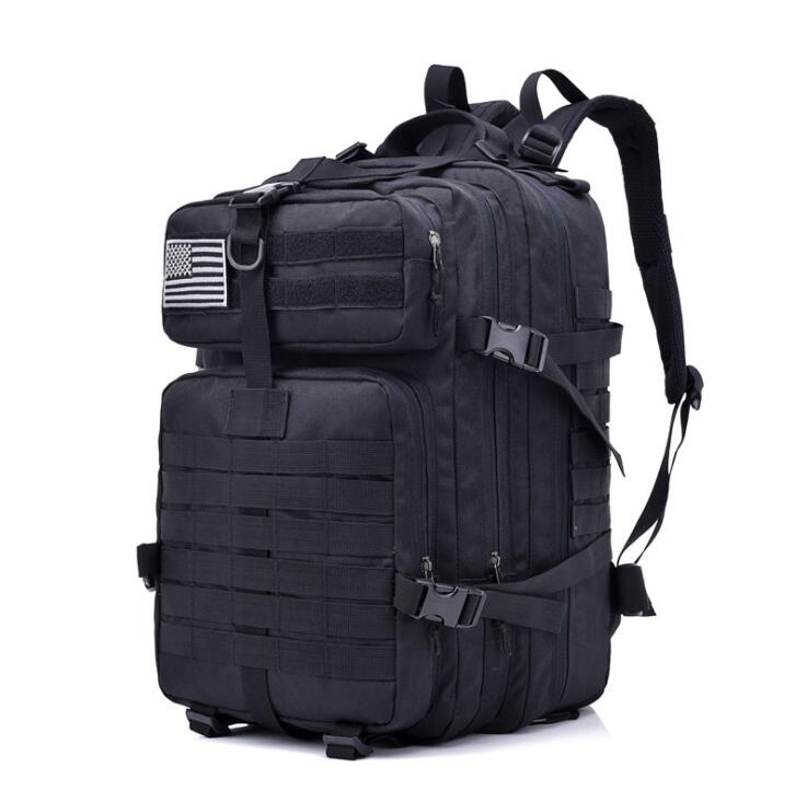 2018 Military Tactical Backpack Climbing Rucksack Cycling Backpack Outdoor Bags Travel Sports Bag with MOLLE Webbings Men baigio men backpack military molle assault backpack 3 way modular attachments 50l waterproof bag rucksack male travel bags
