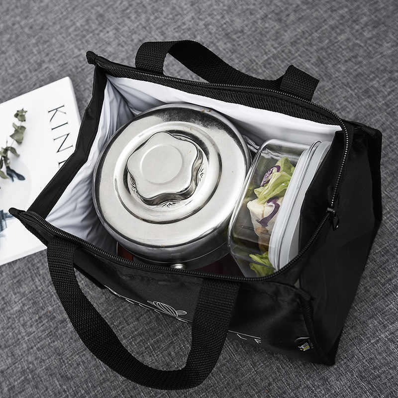 Waterproof Insulated Lunch Bags Oxford Travel Necessary Picnic Pouch Unisex Thermal Dinner Box Coffee Bread Storage Food Case