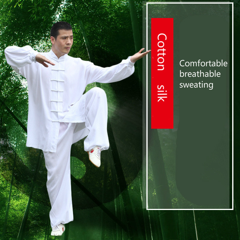 Taiji clothing male and female 4 color tai chi clothing performance clothes pure cotton A martial art Kungfu clothes martial art tai chi cloak taiji cloak only cloak