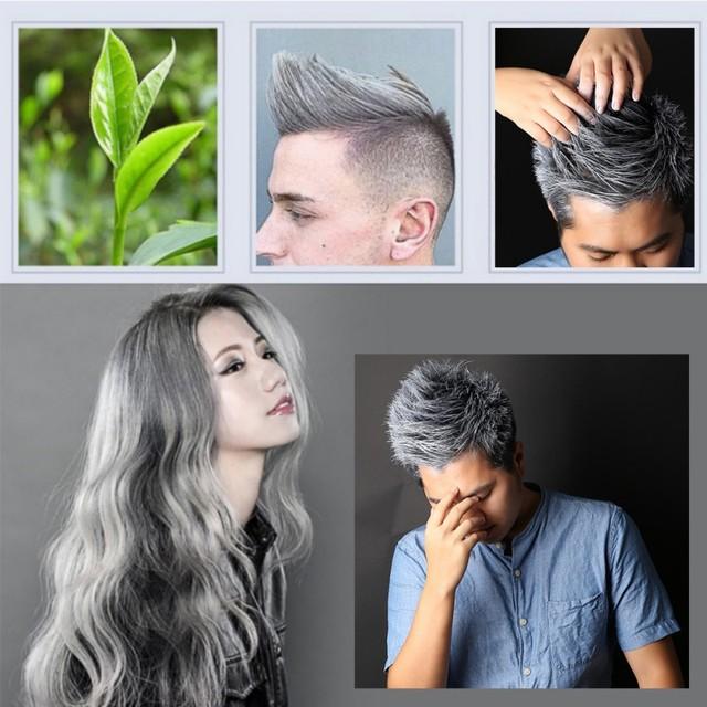 Grey Hair Wax Modeling Hair DIY Blue Red White Purple hair Color ...