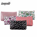 AEQUEEN Cosmetic Bag Women Make Up Bag Casual Portable Flower Foral Printing Feminina Coins Card Pencil Pen Case Pouch Random
