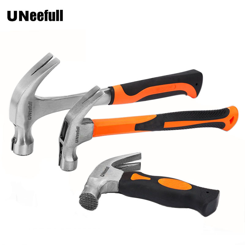 UNeefull Round head plastic handle Magnetic claw hammer For woodworking and Electronic tool, mini hammer rubber hammer tool 0 25kg multifunction claw hammer carbon steel nail hammer steel handle woodworking household hand tools page 5