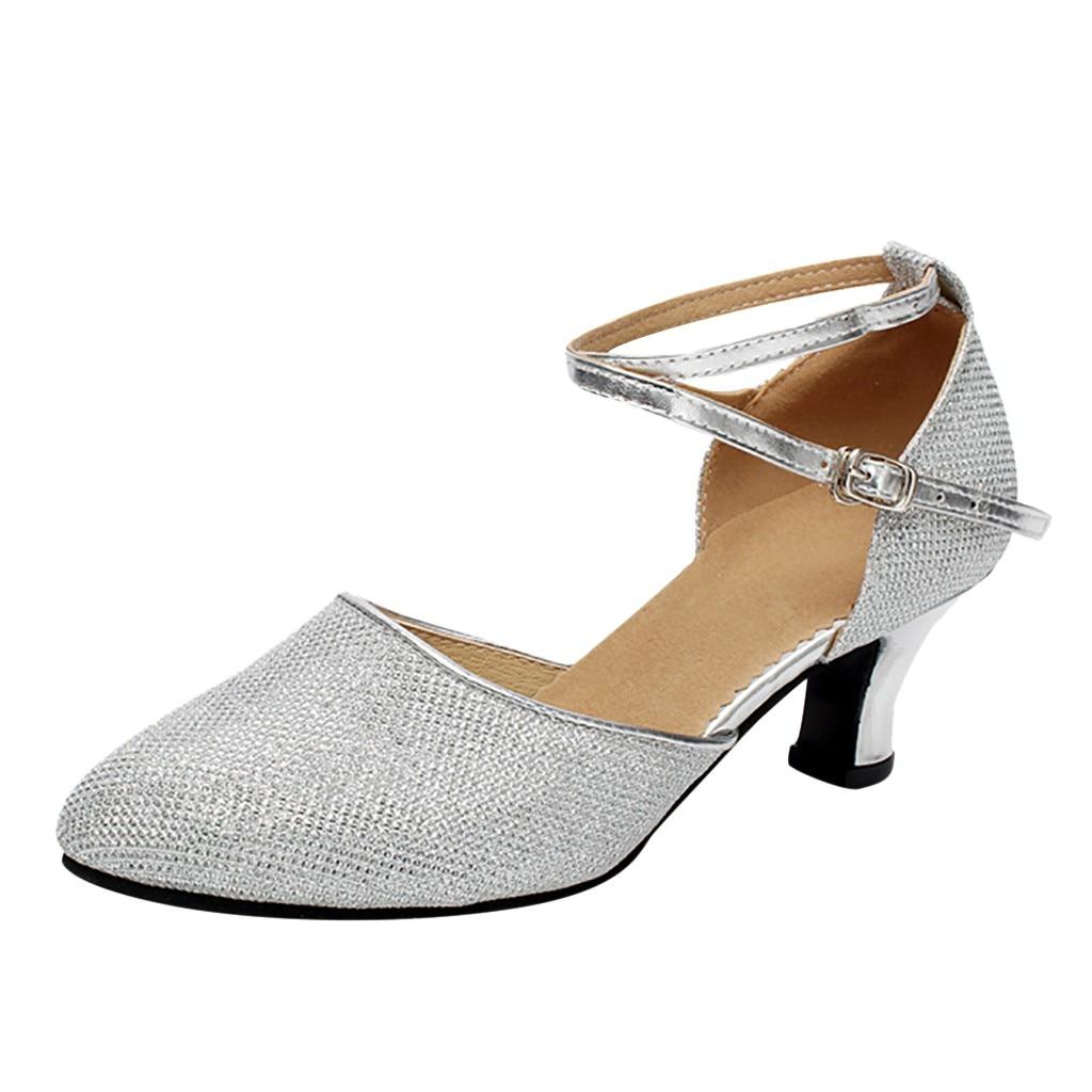 Ladies Samba Rumba Ballroom Latin Tango Salsa Dance Shoes Heels Sandals US5-9 1P
