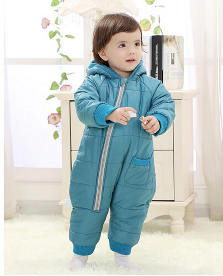 9-24Months Baby Winter Clothes Girl Boy Romper Warm Russian Baby Winter Jumpsuit Skiing Outerwear Clothing Colorful Snowsuit (19)