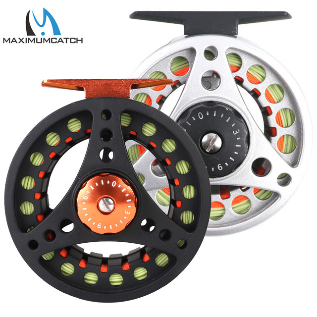 Fly Reel Large Arbor Aluminum Fly Fishing Reel with Extra Spool