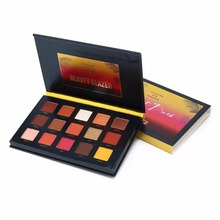 BEAUTY GLAZED 15 Colors Eye Shadow Palette Pressed Highlighter Powder Make Up Sunset Glitter Eyeshadow Pallete Cosmetics Beauty