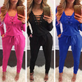 QA251 New hot selling women jumpsuit deep V neck autumn winter long sleeve playsuit rompers