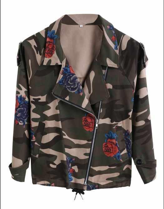 1c214c4bf34 ... New women s army green camouflage jackets coat zipper cardigans denim jackets  women coats winter clothings Free ...