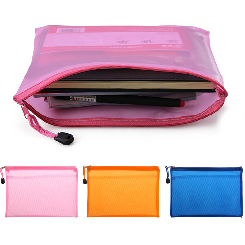 1pc Folder For Documents Capacity A5 Zipper File Pocket Storage Organizer Office School Waterproof