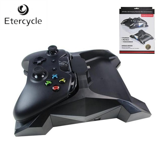 UFO Blue LED Dual USB Changing Charger Stand for Xbox one Controllers With Retail Package