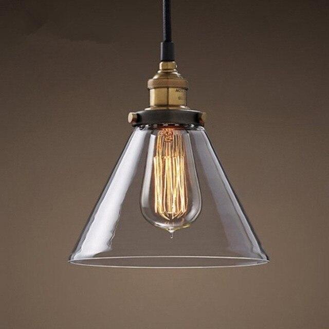 Vintage Pendant Lights Glass Lamp Kitchen Fixtures Dining Room Home Lighting Luminaria Retro Industrial Hanging