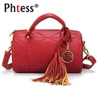 PHTESS Fashion Tassel Messenger Bag Women Barrel Shaped Bag Female Luxury Handbags Women Bags Designer Crossbody