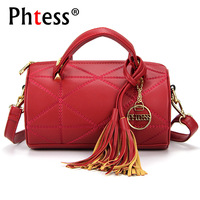 PHTESS Fashion Tassel Messenger Bag Women Barrel Shaped Bag Female Luxury Handbags Women Bags Designer Crossbody