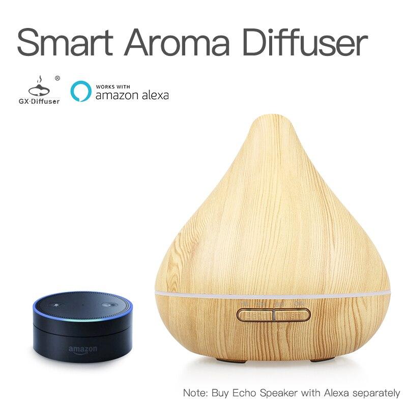 GX. Diffuseur Portable Wi-Fi Smart Air Humidificateur Aromathérapie Arôme Diffuseur 300 ml Électrique Diffuseur Purificateur D'air de Travail avec Alexa