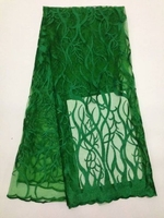 New Green Factory Price French Net Lace Fabric With Rhinestones Stones Tulle Beautiful African Lace Fabric