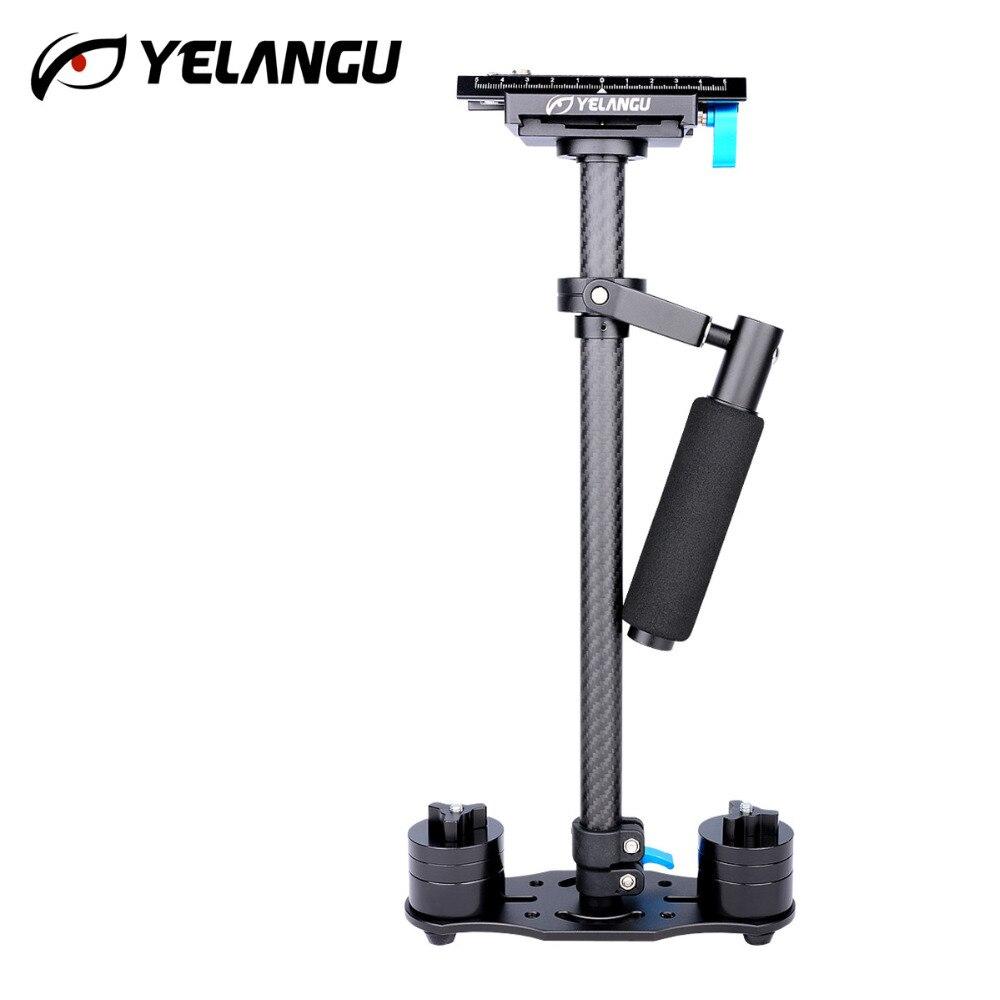 Estabilizador YELANGU S60T adaptación 0,5 3 kg fibra de carbono ajustable S60T tubo de fibra de carbono DSLR estabilizador de cámara de vídeo