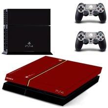 ציוד מתכת מוצק V PS4 עור מדבקת מדבקות עבור Sony פלייסטיישן 4 קונסולת 2 בקרי PS4 מדבקת עור ויניל