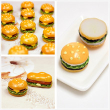 8pcs Resin Hamburger Model Food Toys For Doll House Kitchen Toy DIY Accessories New