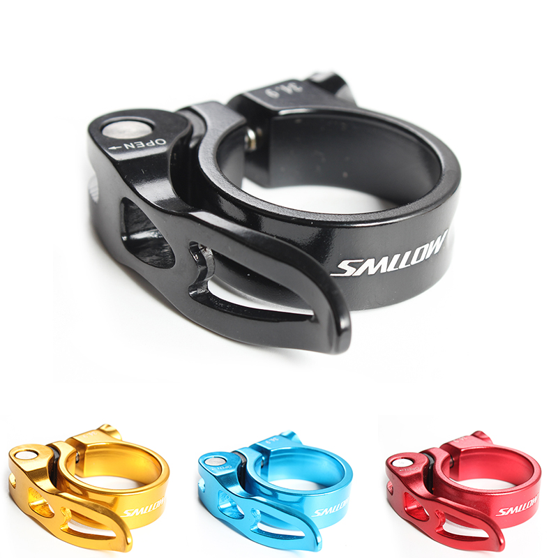 RISK 31.8//34.9mm Road Bike Seatposts Clamp Bicycle Seat Tube Clamp Quick Release