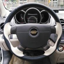 Черный бежевый чехол рулевого колеса автомобиля для Chevrolet Lova Aveo Buick Excelle Daewoo Gentra 2013- Chevrolet Lacetti 2006-2012