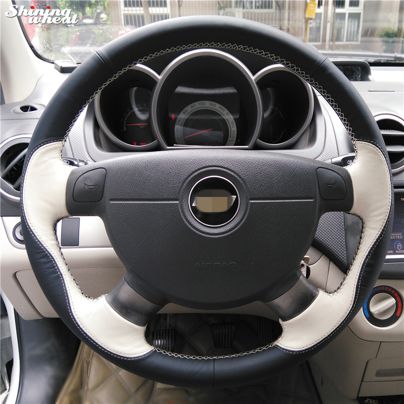 Black Beige Car Steering Wheel Cover for Chevrolet Lova Aveo Buick Excelle Daewoo Gentra 2013-2015 Chevrolet Lacetti 2006-2012 giantree multi function rf signal finder detector full range wireless camera gsm gps cell phone radio detector bug detector