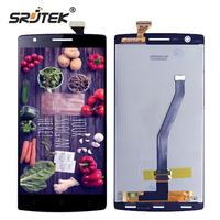 Srjtek For Oneplus One LCD Display Matrix Touch Screen Digitizer Full Assembly With Frame For One
