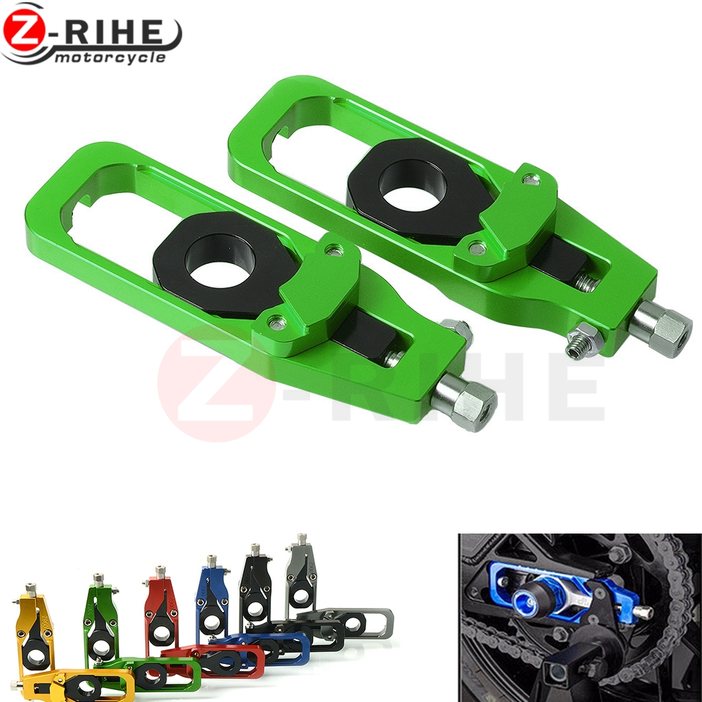 Z 900 CNC aluminum left right chain adjusters Catena tensioners for Kawasaki Z900 2017 motocross chain
