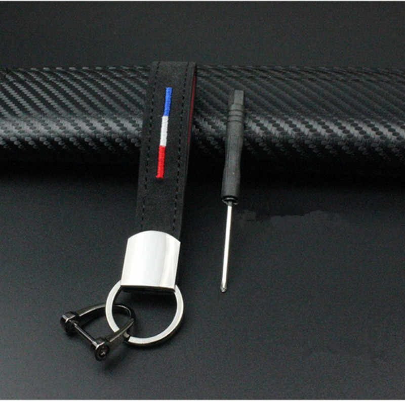 الأزياء المعادن و حزام جلد العلم الوطني سيارة المفاتيح ل مقعد ليون إيبيزا ألتيا الحمراء اكسسوارات