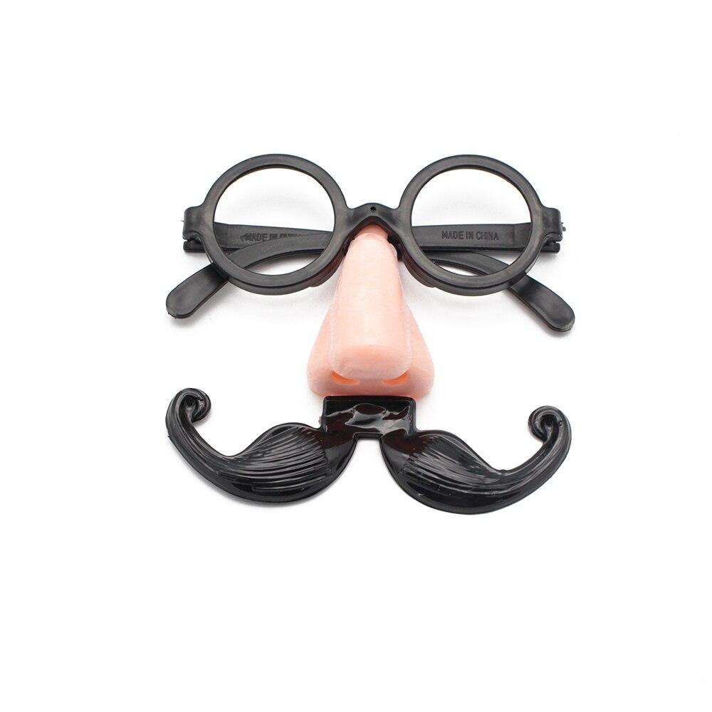 Fake Nose Mustache Clown Fancy Dress up Costume Props Fun Party Favor Glasses 1X