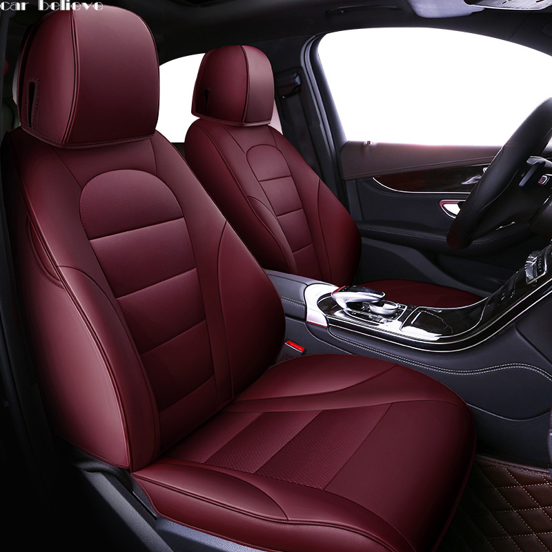 Acredite couro carro tampa de assento do carro Para volvo s80 xc90 xc60 s60 s40 v70 v40 v50 c30 acessórios capas para assentos de veículos